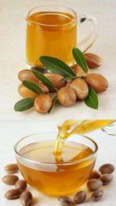 huiles dans les cheveux